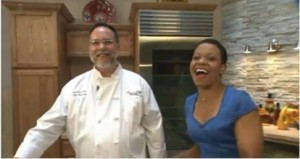 Chaumette Exec Chef Rob Beasley & Fox2Now's Kim Hudson