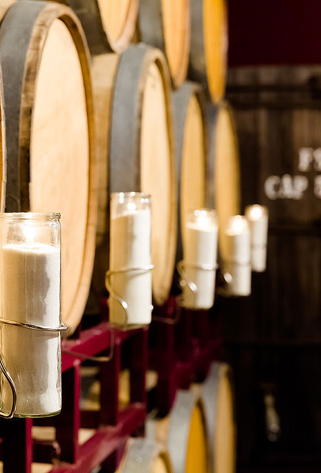 Barrel Room, Wine Barrels