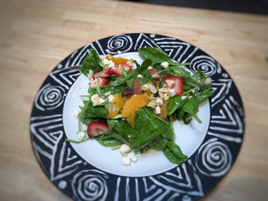 Chaumette Summer Salad: Strawberry & Spinach
