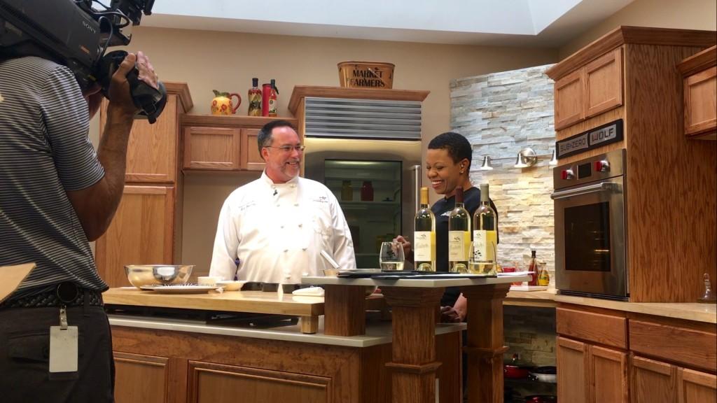 Chaumette Chef Rob Beasley, summer salad, vignoles
